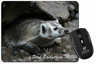 Badger-Stop Badgering Me! Computer Mouse Mat Christmas Gift Idea, ABA-3M