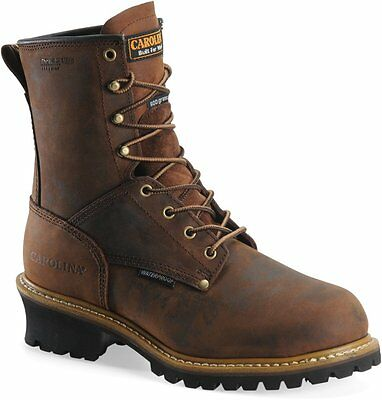 "Carolina Men's 8"" Waterproof Insulated Logger"