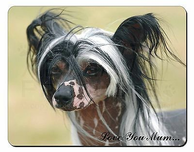 Chinese Crested Dog 'Love You Mum' Computer Mouse Mat Christmas Gif, AD-CHC2lymM
