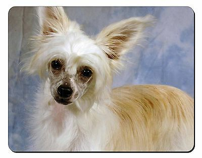 Chinese Crested Powder Puff Dog Computer Mouse Mat Christmas Gift Idea, AD-CHC3M