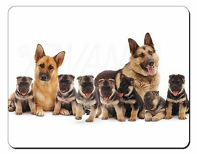 AD-GS1RM German Shepherd with Red Rose Computer Mouse Mat Christmas Gift Idea