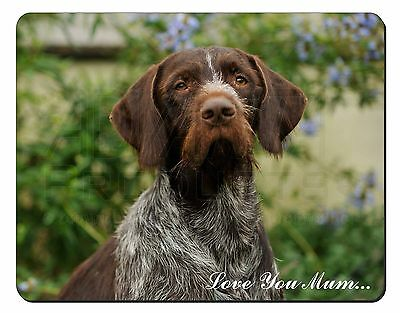 German Wirehaired Pointer 'Love You Mum' Computer Mouse Mat Christm, AD-GWP1lymM