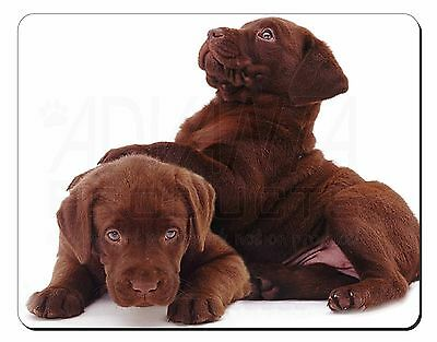Chocolate Labrador Puppies Computer Mouse Mat Christmas Gift Idea, AD-L81M