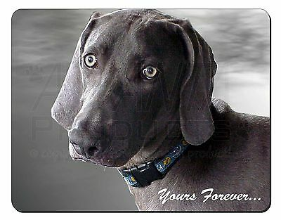 Weimaraner Dog 'Yours Forever' Computer Mouse Mat Christmas Gift Idea, AD-W79M