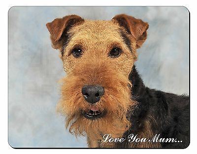 Welsh Terrier Dog 'Love You Mum' Computer Mouse Mat Christmas Gift I, AD-WT1lymM