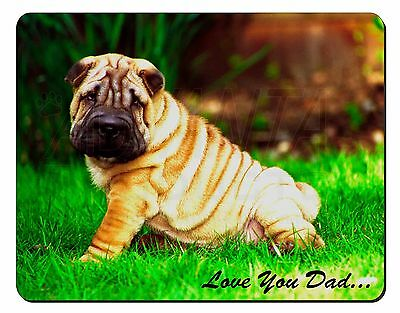 Shar-Pei Dog 'Love You Dad' Computer Mouse Mat Christmas Gift Idea, DAD-109M
