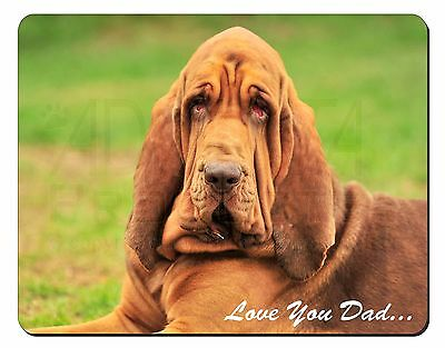 Basset Hound Dog 'Love You Dad' Computer Mouse Mat Christmas Gift Idea, DAD-10M