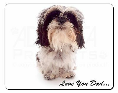 Shih-Tzu 'Love You Dad' Computer Mouse Mat Christmas Gift Idea, DAD-124M
