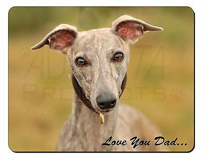 Whippet Dog 'Love You Dad' Computer Mouse Mat Christmas Gift Idea, DAD-135M