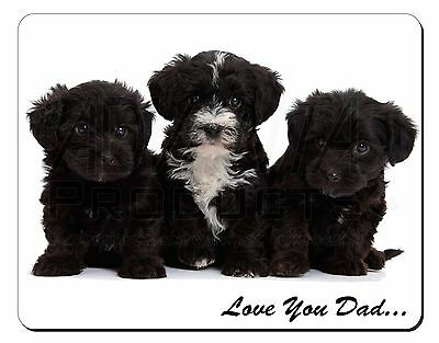 Yorkipoo Pups 'Love You Dad' Computer Mouse Mat Christmas Gift Idea, DAD-139M