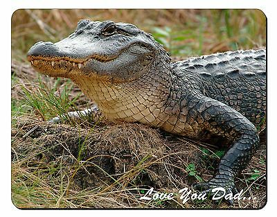 Crocodile 'Love You Dad' Computer Mouse Mat Christmas Gift Idea, DAD-146M