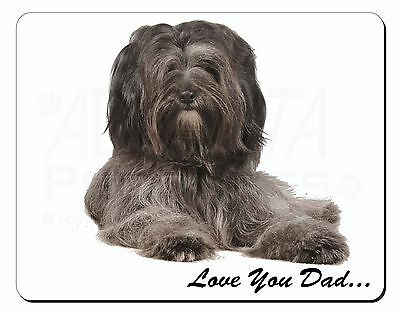 Tibetan Terrier Dog 'Love You Dad' Computer Mouse Mat Christmas Gift I, DAD-192M