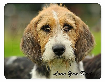 Fox Hound 'Love You Dad' Computer Mouse Mat Christmas Gift Idea, DAD-30M