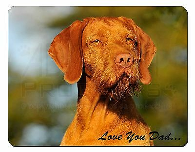 Wirehaired Vizsla 'Love You Dad' Computer Mouse Mat Christmas Gift Idea, DAD-57M