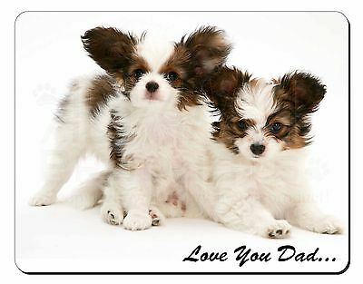 Papillon Dogs 'Love You Dad' Computer Mouse Mat Christmas Gift Idea, DAD-83M