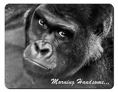 Gorilla with 'Morning Handsome'... Computer Mouse Mat Christmas Gift Id, MH-AM2M