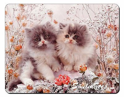 Two Kittens 'Soulmates' Sentiment Computer Mouse Mat Christmas Gift Id, SOUL-10M