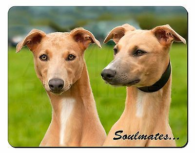 Whippet Dogs 'Soulmates' Sentiment Computer Mouse Mat Christmas Gift I, SOUL-64M