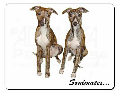 Whippet Dogs 'Soulmates' Computer Mouse Mat Christmas Gift Idea, SOUL-65M