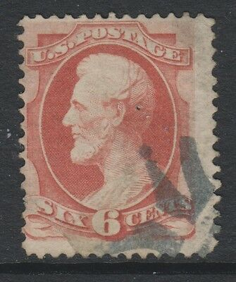 USA - 1879, 6c Pale Red stamp - Used - SG 188