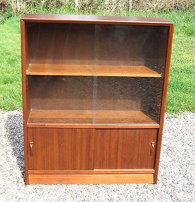 Vintage/Retro Mid-Century Gibbs Bookcase Shelves ~ with Sliding Glass Doors