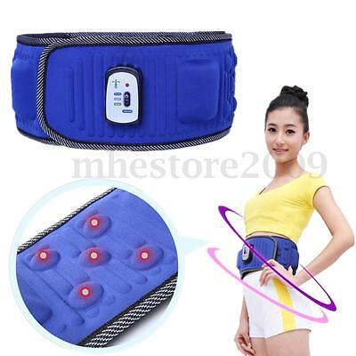 Electric Body Slimming Belt Waist Trainer Vibration Weight loss Fat Massage 12V
