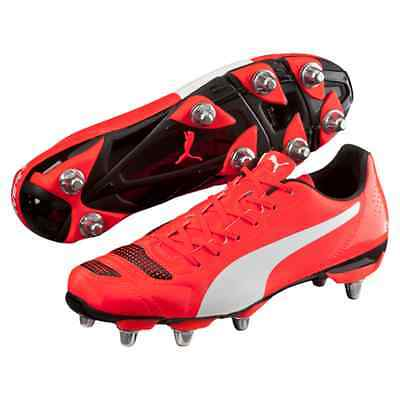 Puma evoPOWER 4.2 H8 SG Red Rugby Boots Sizes:(UK 7 - 13) 103305-05