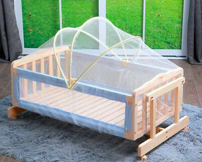1 PC ILJ Densified Baby Crib Arch Cradle Dedicated Mosquito Net 100x60cm