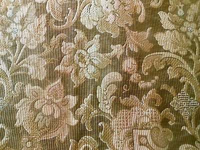 Antique French Ombre Floral Tapestry Cotton Fabric ~ Ombre Brown Blush Aqua