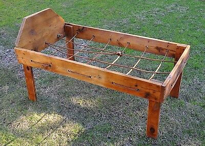 Vintage Child's Rope Bed Frame