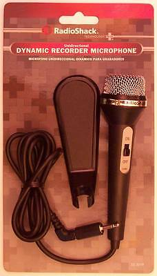 RadioShack 33-3019 Unidirectional Dynamic Recorder Microphone ~ 4 Foot Cord