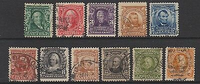 USA - 1902/8, 1c - 50c stamps - Used - SG 306/16