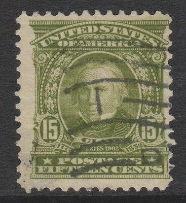USA - 1902, 15c Clay stamp - Used - SG 315