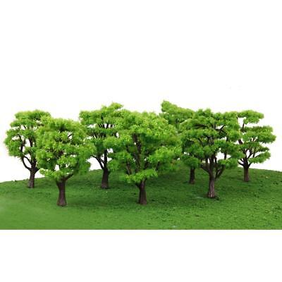 10pcs Green Trees Model Train Railway Diorama Garden Spring Scenery HO N Scale