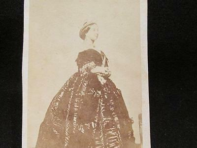 Her Majesty Queen Victoria Before 1861 Mourning Antique CDV Portrait
