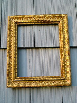 Antique Aesthetic Eastlake Victorian~Ornate Aged Gold Picture Frame 8 x 10