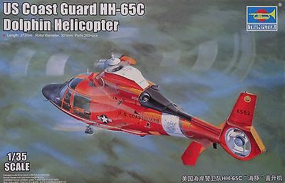 TRUMPETER® 05107 US Coast Guard HH-65C Dolphin Helicopter in 1:35