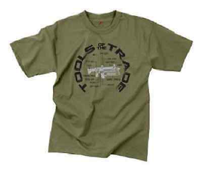 "US VINTAGE "" TOOLS OF THE TRADE "" T-SHIRT ARMY OD GREEN XXLarge"