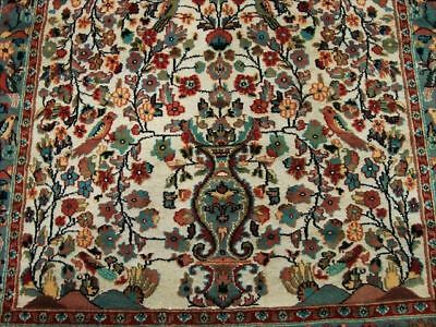 TREE OF LIFE HAND KNOTTED RUG MAT CARPET WOOL SILK 5x8