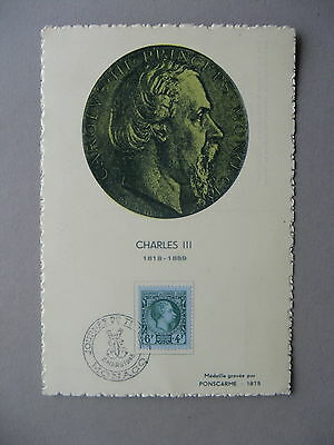 MONACO, eventcard 1948, Stampday, prins Charles III, royalty