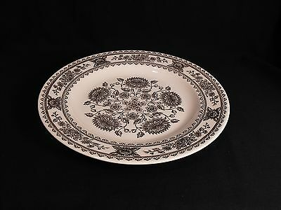 "Royal China Jeannette USA Hampshire  10"" Dinner Plate Brown Mum Flowers"
