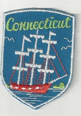 Souvenir Patch - State Of Connecticut - Constitution State - Hartford