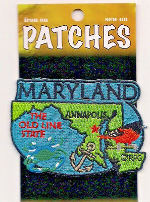 Souvenir Patch - State Of Maryland - Old Line State - Annapolis