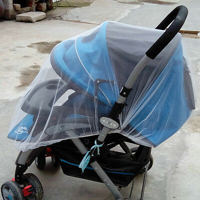 Baby Stroller Pushchair Buggy Pram Mosquito Bar Insect Bug Net Safe Mesh Cover