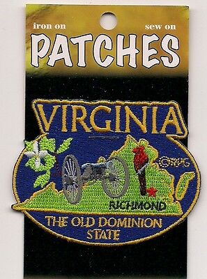 Souvenir Patch - State Of Virginia - Old Dominion State - Richmond