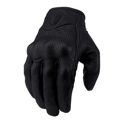 Short Style Premium A Grade Perforated Summer Motorcycle Gloves Glove
