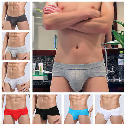 Sexy Men's Briefs Soft Modal Smooth Bulge Pouch Shorts Underpants Underwear