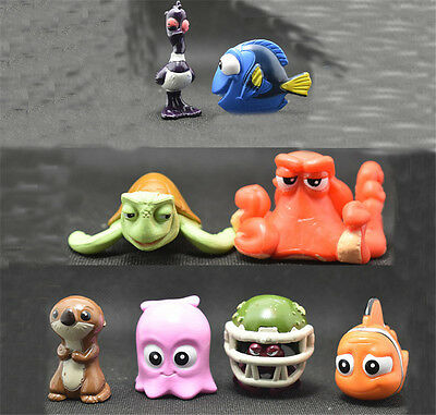 Popular Film Finding Nemo 2 Finding Dory 2-5 cm Figures Cute Toys gift 8 pcs Set