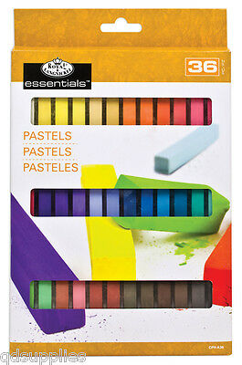 36 Artist Soft Square Sketching Pastels Pigment Colours Inc Flesh Tones Cph-A36