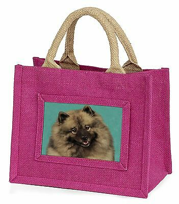 Keeshond Dog Little Girls Small Pink Shopping Bag Christmas Gift, AD-KEE1BMP